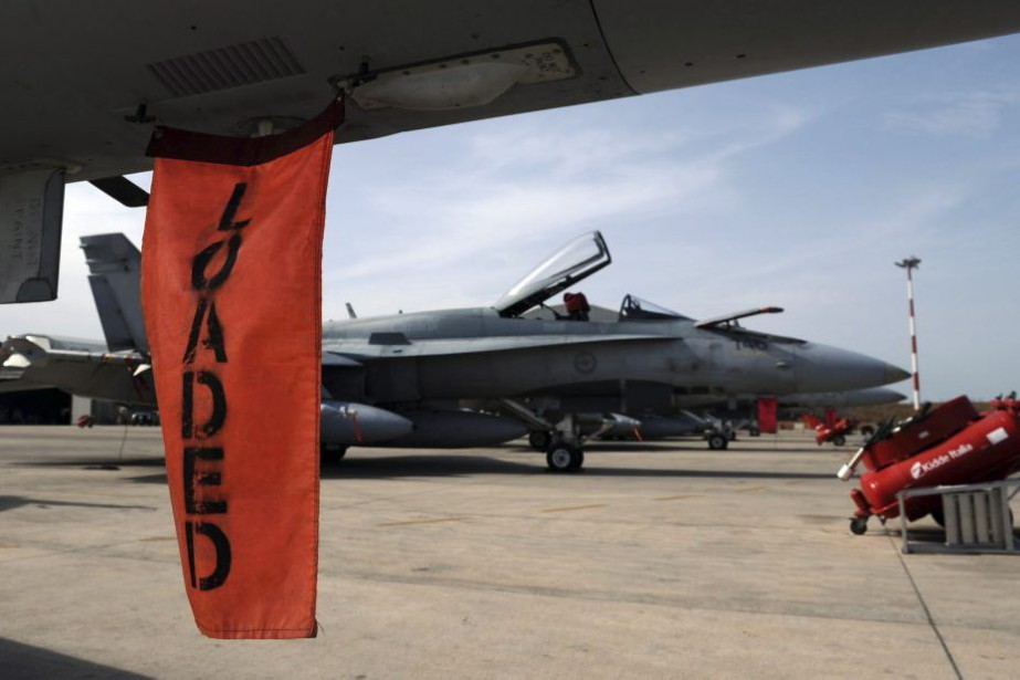 Le Canada devrait déployer jusqu'à six avions de... (PHOTO SEAN KILPATRICK, ARCHIVES PC)