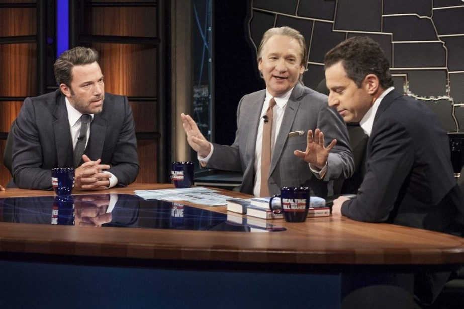 Ben Affleck, Bill Maher et Sam Harris lors... (Photo: AP)