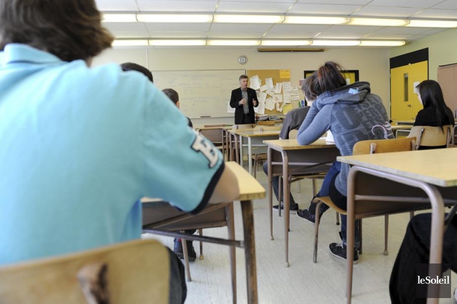 L'Ontario est la seule province dont les élèves... (PHOTO ERICK LABBÉ, ARCHIVES LE SOLEIL)