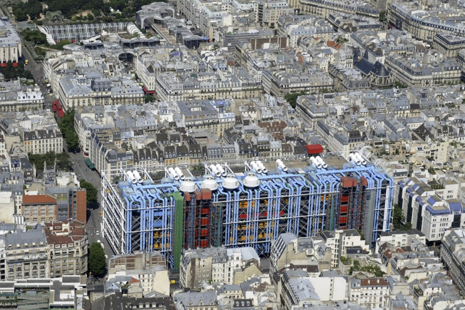 Le Centre Pompidou vu des airs.... (Photo: archives AFP)