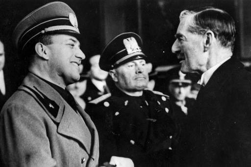 Sur cette photo prise en janvier 1939, Benito... (Photo: archives AFP)