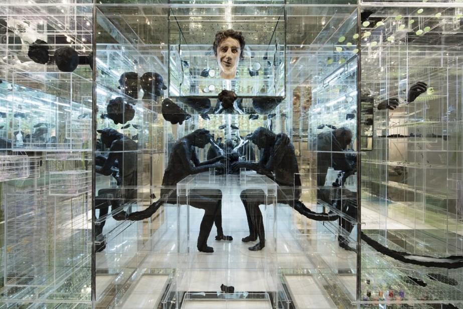 Synthèse de toutes les oeuvres de David Altmejd réalisées depuis 15 ans, l'installation sculpturale <em>The Flux and the Puddle</em> («Le flux et la flaque») clôturera le parcours de l'exposition parisienne. (Photo: tirée de Facebook)