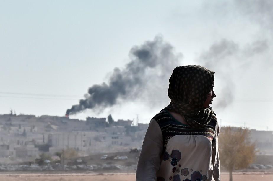 La ville de Kobané, théâtre de combats entre... (Photo Aris Messinis, Agence France-Presse)