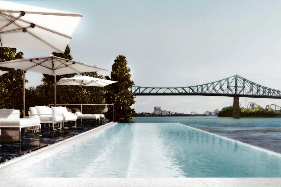 <!-- mediasuite internal html copy -->Au 5<span>e</span> Quai, conçu par Sid Lee Architecture, les vues sur le fleuve Saint-Laurent seront mises en valeur. La piscine et la terrasse seront ensoleillées, car elles seront aménagées sur le côté sud, face au cours d'eau. ()