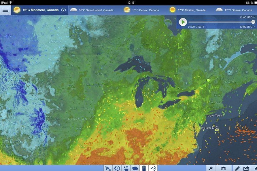 Intellicastest une application météo très complète pour toutes les...
