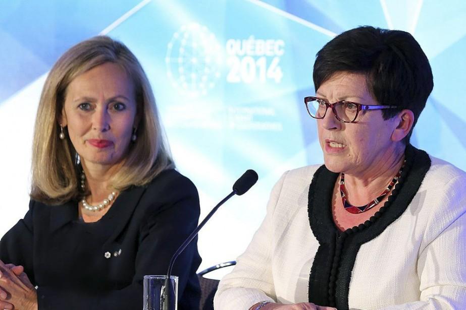 La présidente du Mouvement Desjardins, Monique F. Leroux... (PHOTO CNW)