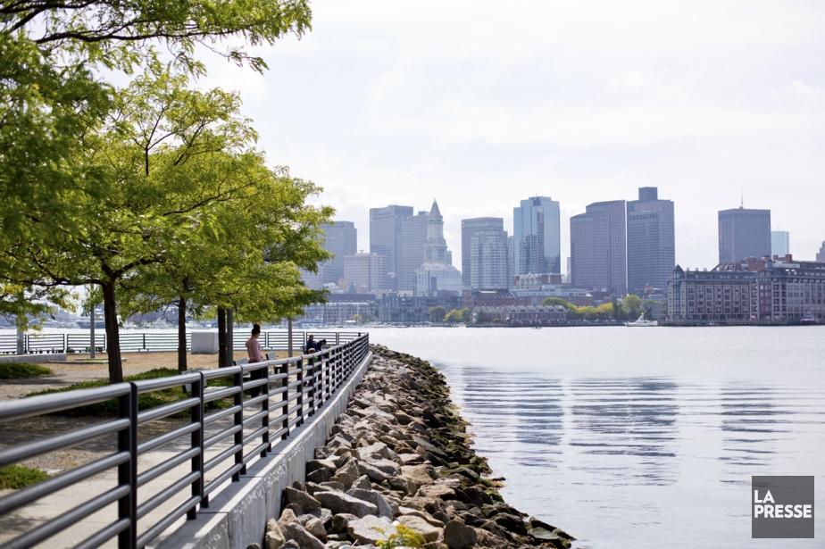 Le skyline de Boston vu de LoPresti Park... (PHOTO SARAH MONGEAU-BIRKETT, LA PRESSE)