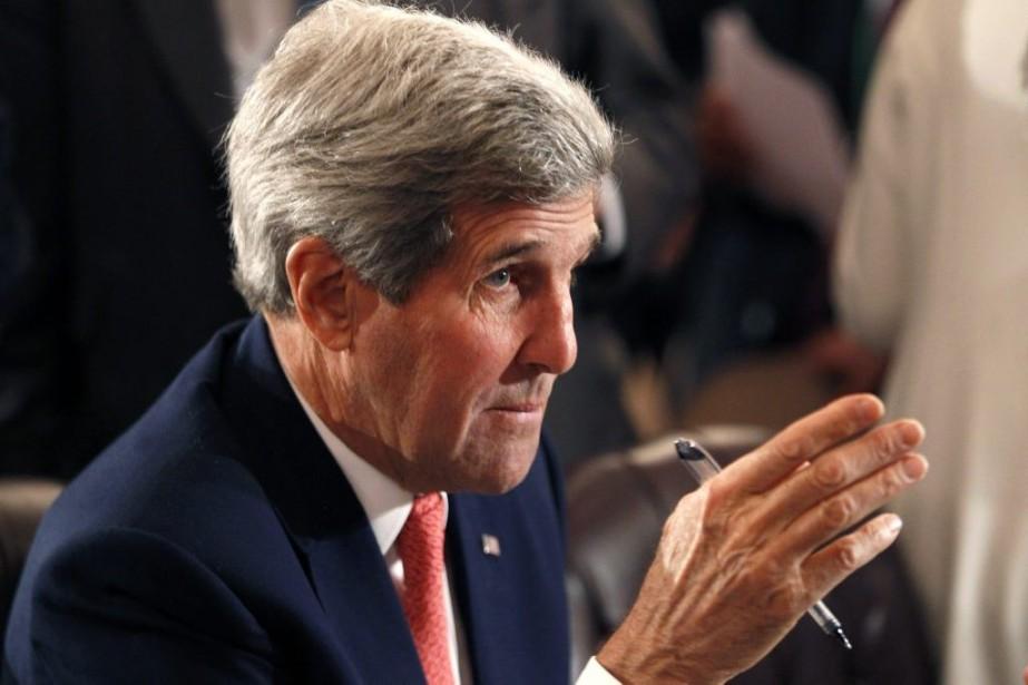 Le secrétaire d'État américain John Kerry... (PHOTO MOHAMED ABD EL GHANY, REUTERS)