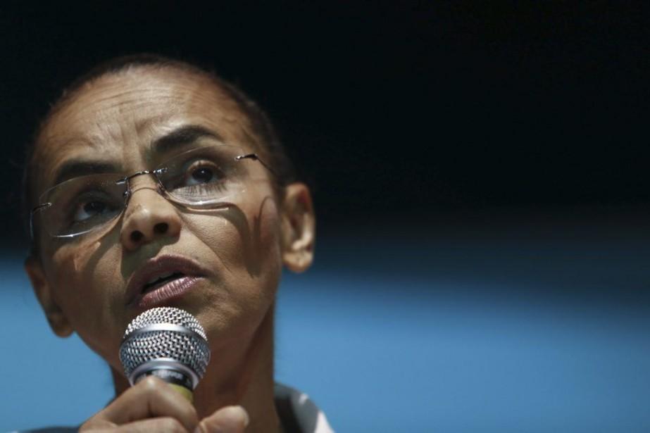 Marina Silva, donnée favorite de cette élection au... (Photo MIGUEL SCHINCARIOL, AFP)