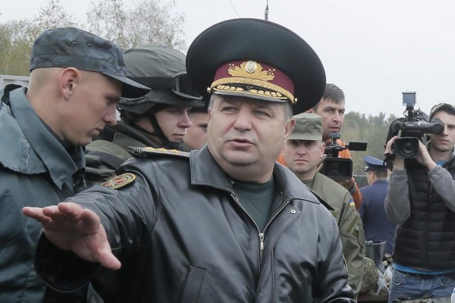 M.Poltorak commande actuellement la Garde nationale, qui regroupe... (PHOTO EFREM LUKATSKY, ARCHIVES AP)