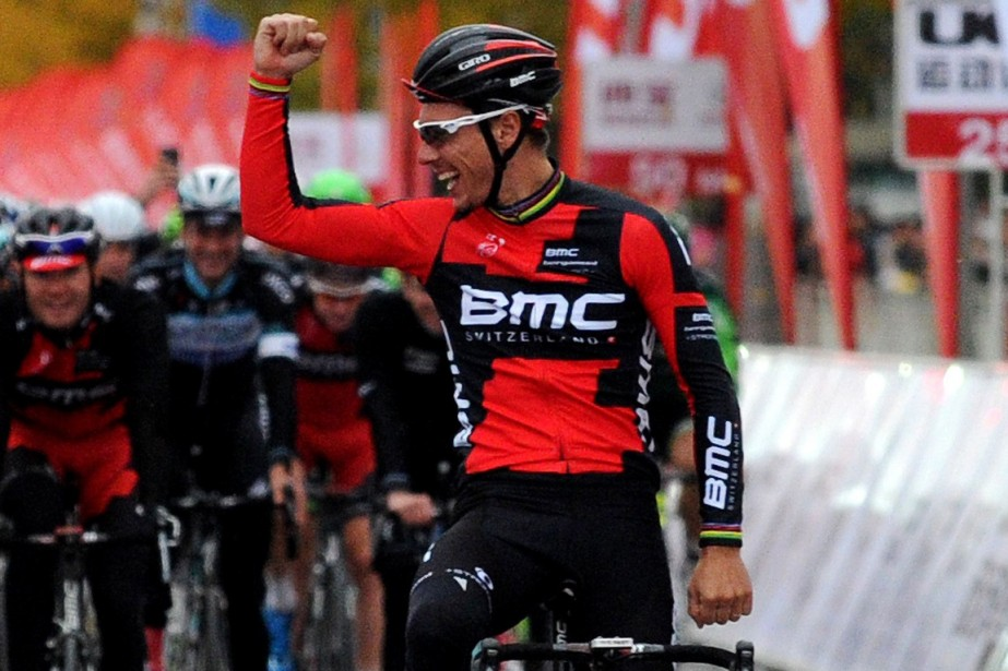 Philippe Gilbert (photo) entreprendra l'étape finale, mardi, avec... (PHOTO WANG ZHAO, AFP)