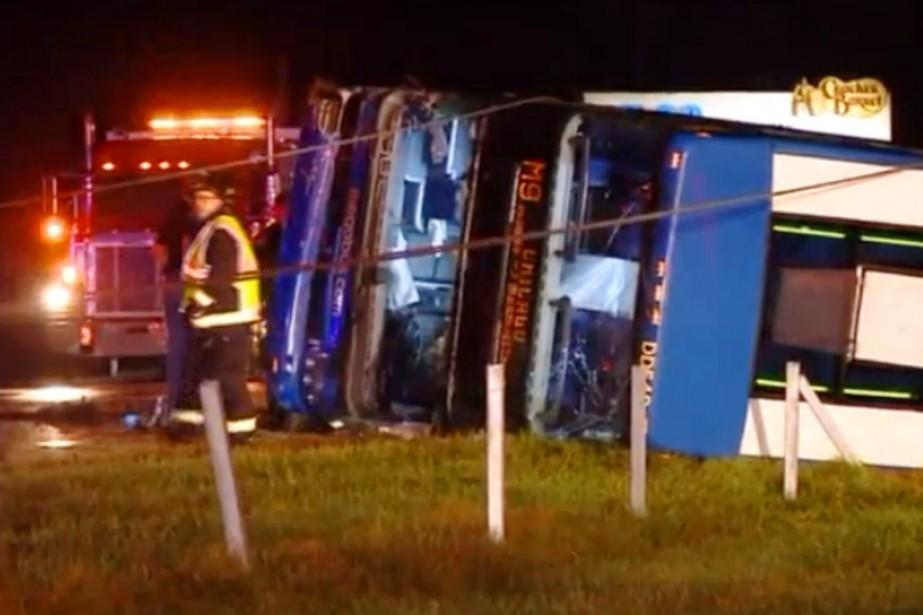 L'accident s'est produit sur une autoroute de Greenwood,... (IMAGE WGNTV.COM)