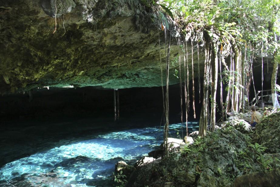 Le cenote de Dos Ojos, où les plus aventureux pourront faire de la plongée. (Photo William Antozzi, collaboration spéciale)