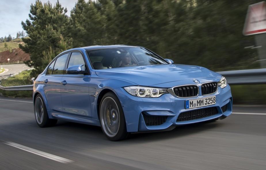 BMW berline M3 - À partir de 74 000 $ - La berline de la Série 3 vitaminée avec un moteur V6 de 3,0 litres délivrant 425 chevaux (316 kW) et 406 livres-pieds de couple (550 N.m). (Photo BMW)