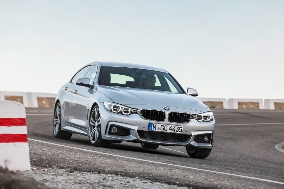 BMW Série 4 Gran Coupé - À partir de 44 900 $ - En 2014, BMW désignait ses numéros de série pairs pour les coupés deux portes et cabriolets. Le constructeur arrive avec un coupé quatre portes dans la Série 4 avec le Gran Coupé. (Photo BMW)