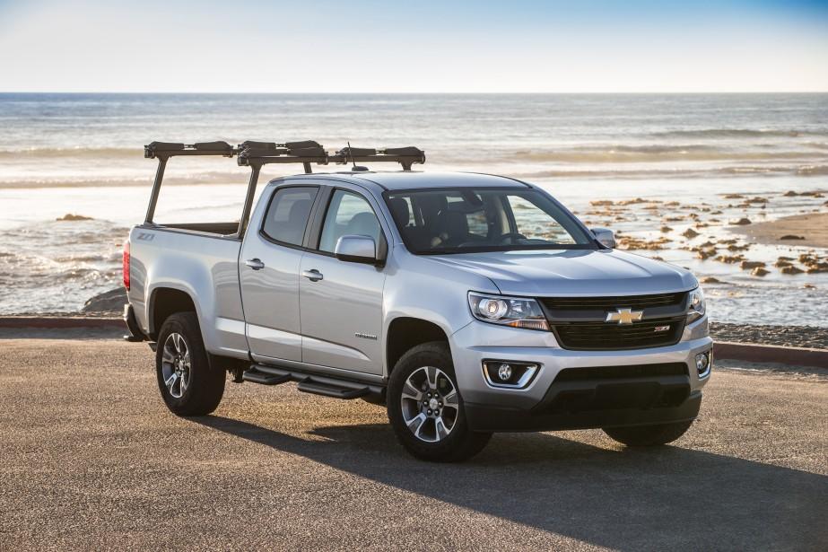 Chevrolet Colorado/GMC Canyon - À partir de 19 900 $ - La camionnette intermédiaire de GM a été redessinée après celle des camions pleine grandeur Silverado et Sierra. Un moteur diesel sera aussi proposé dans ce modèle. (Photo GM)