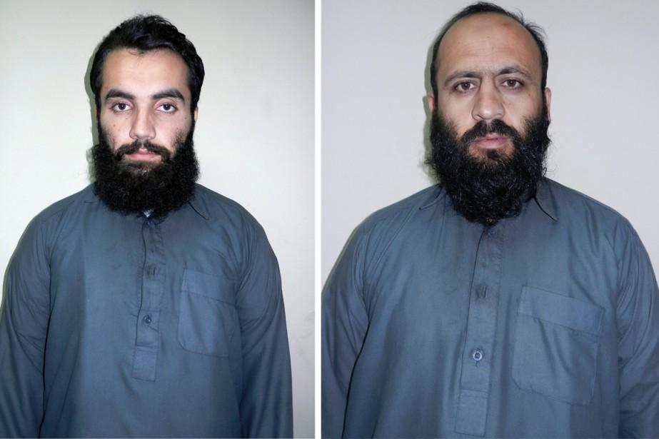 Anas Haqqani (à gauche), fils du fondateur du... (PHOTOS AP)