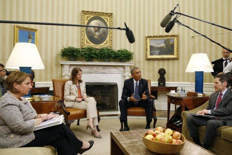 Le président américain Barack Obama a parlé aux... (PHOTO LARRY DOWNING, REUTERS)
