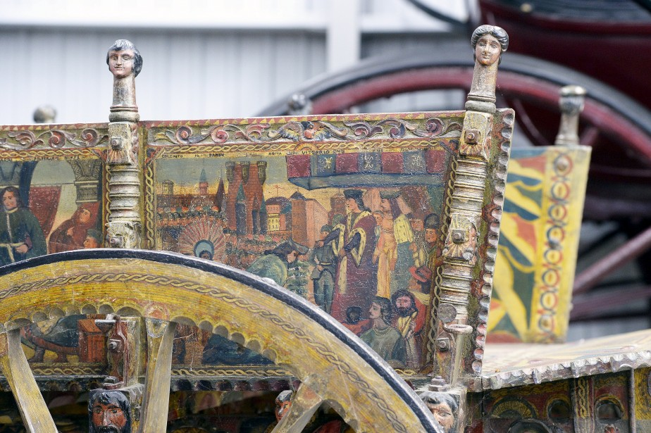 Charette italienne richement décorée (Le Soleil, Jean-Marie Villeneuve)