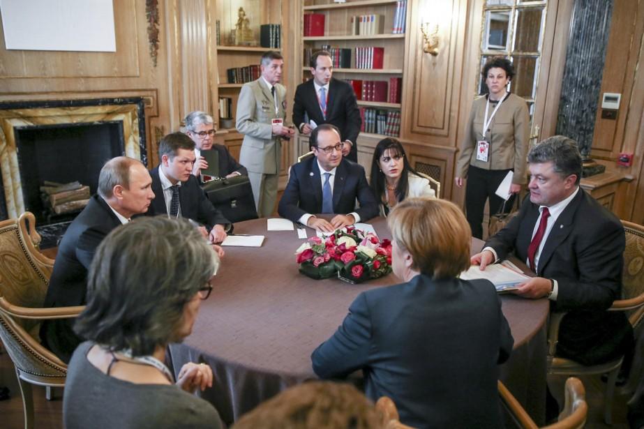 «L'accord sur le gaz est maintenant vraiment à... (PHOTO MIKHAIL PALINCHAK, REUTERS/PRÉSIDENCE UKRAINIENNE)