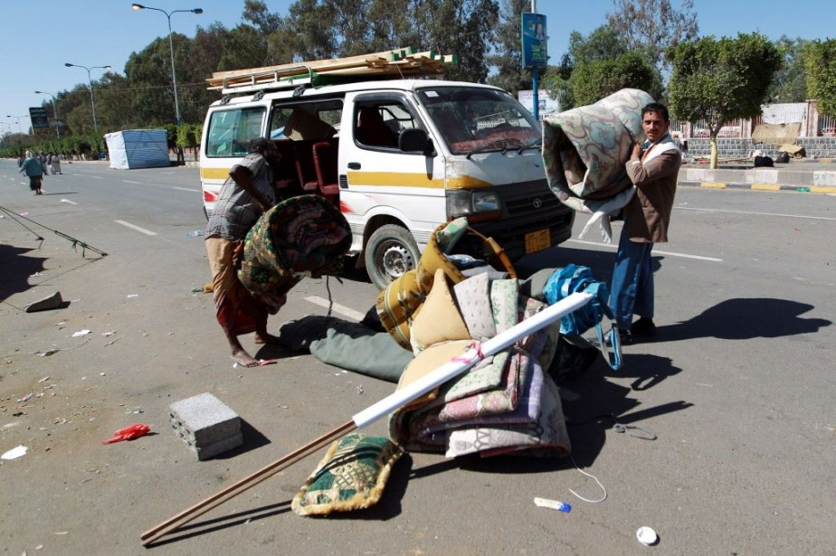 Ces combats interviennent au lendemain d'une manifestation de... (PHOTO MOHAMMED HUWAIS, AFP)