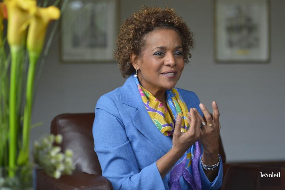 L'ex-gouverneure générale Michaëlle Jean a visité une vingtaine... (PHOTO ARCHIVES LE SOLEIL)