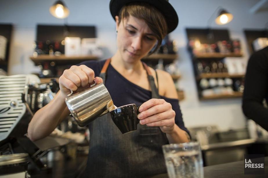 Café Névé, dans la boutique Frank & Oak.... (PHOTO EDOUARD PLANTE-FRÉCHETTE, LA PRESSE)