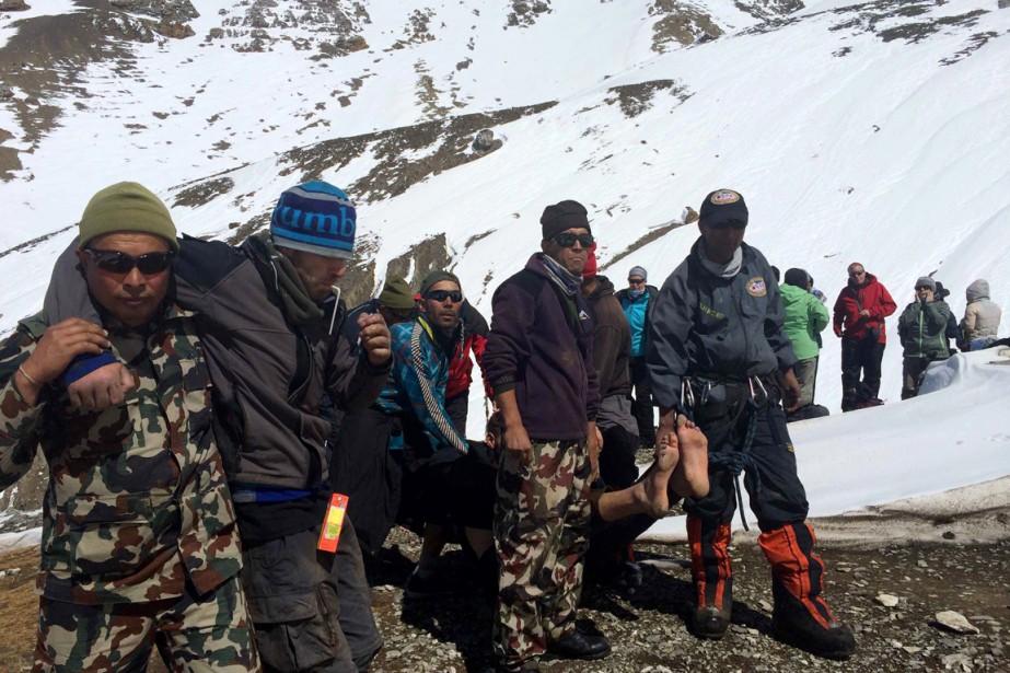 Sur cette photo diffusée par l'armée népalaise le... (PHOTO ARCHIVES AFP/ARMÉE DU NÉPAL)