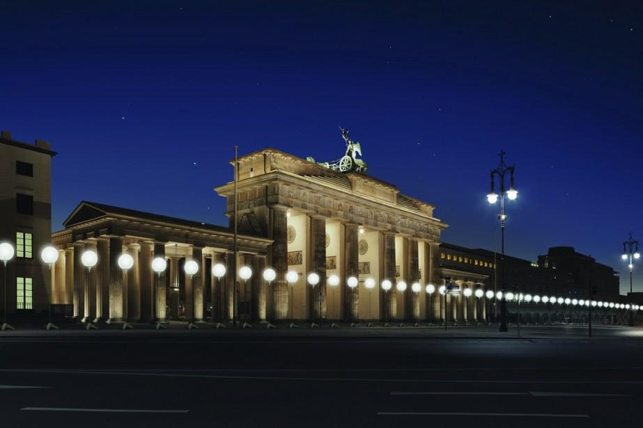 Du 7 au 9 novembre, une vaste installation... (Photo fournie par la ville de Berlin)