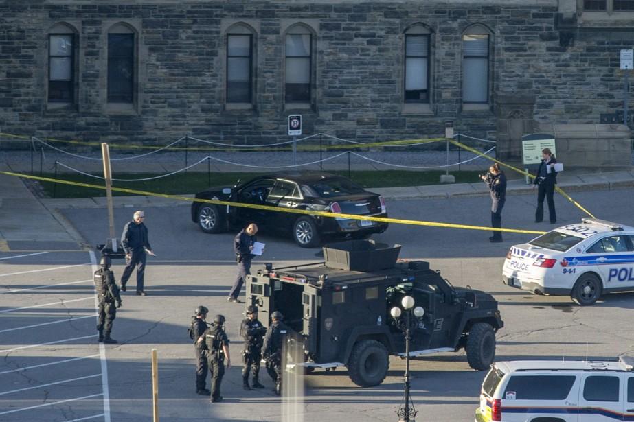 Le forcené qui a pénétré et fait feu au Parlement... (Photo La Presse Canadienne)