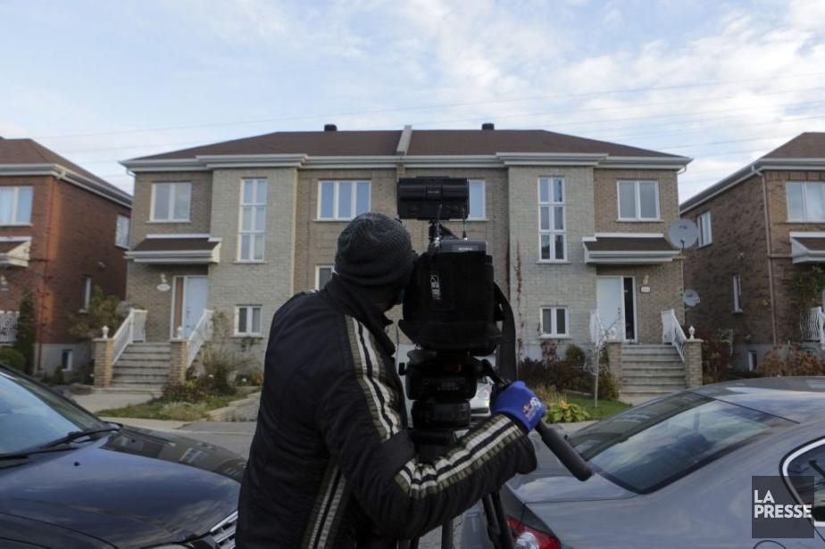 La résidence d'un parent du tireur d'Ottawa, Michael... (PHOTO MARTIN CHAMBERLAND, LA PRESSE)