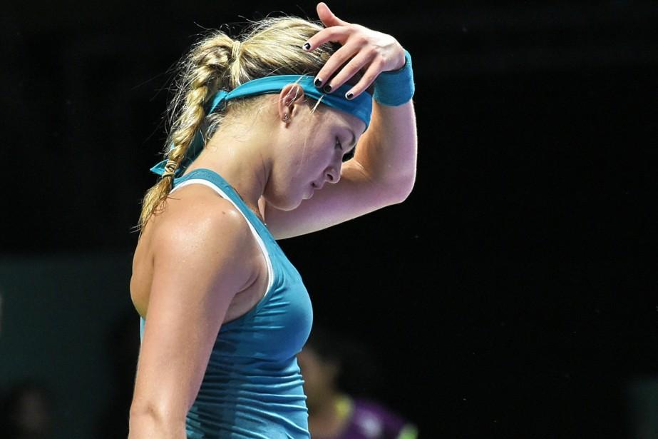 Eugenie Bouchard a perdu ses trois matchs du... (Photo Roslan Rahman, AFP)