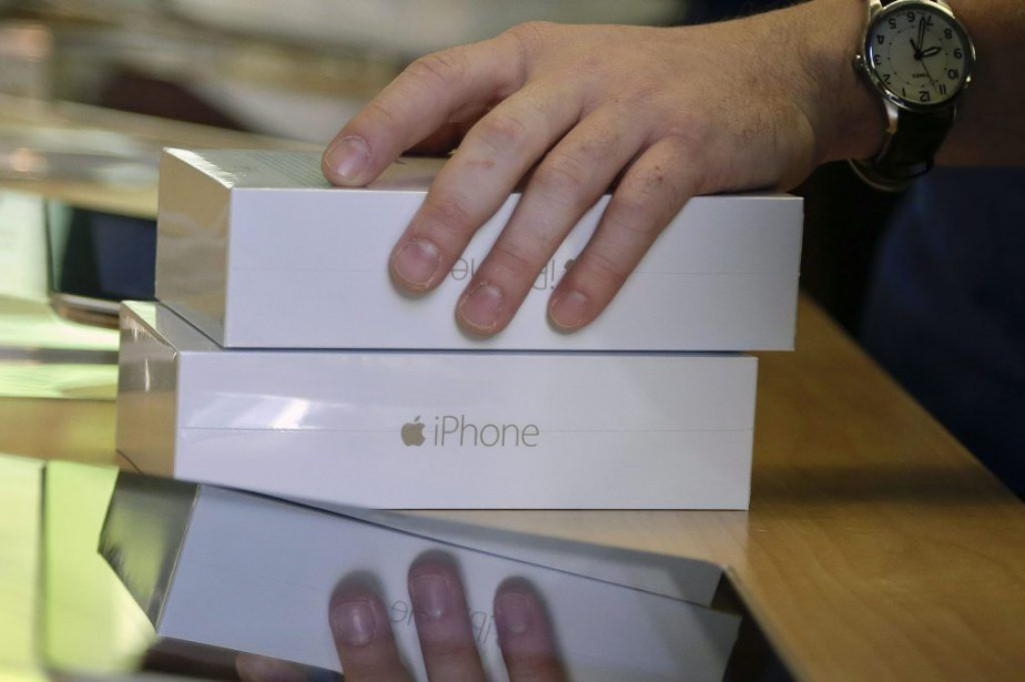 Le lancement de iPhone6 et 6 Plus a... (Photo Julie Jacobson, Archives AP)