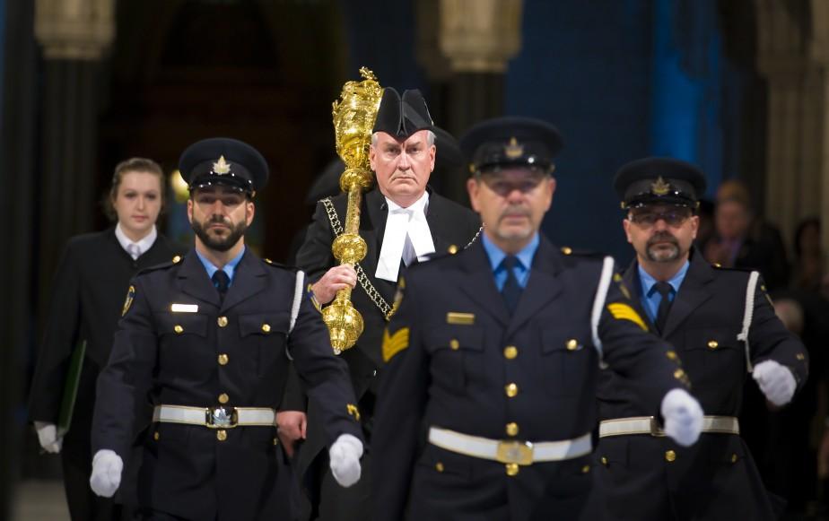 Le sergent d'armes du Parlement, Kevin Vickers. (Photo André Pichette, La Presse)