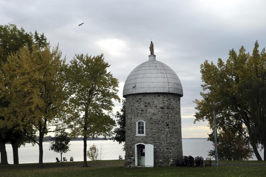Le moulin à vent de l'île Saint-Bernard est l'un des derniers du Québec. (Photo Martin Chamberland, La Presse)