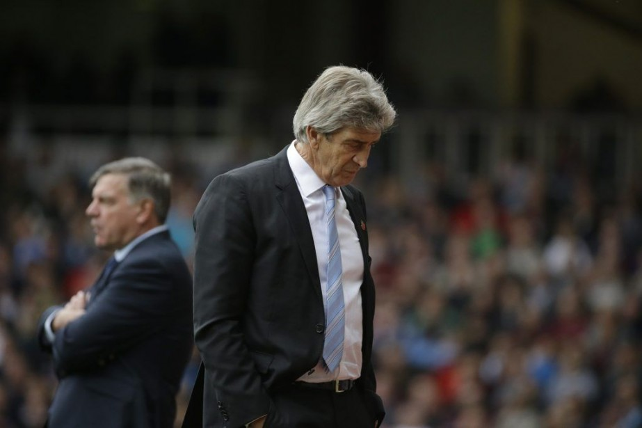 L'entraîneur de Manchester City, Manuel Pellegrini, était pourtant... (PHOTO MATT DUNHAM, AP)