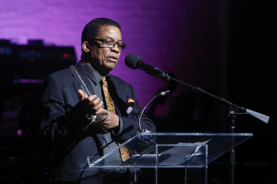 Herbie Hancock a fait une allocution lors de... (Photo AP)