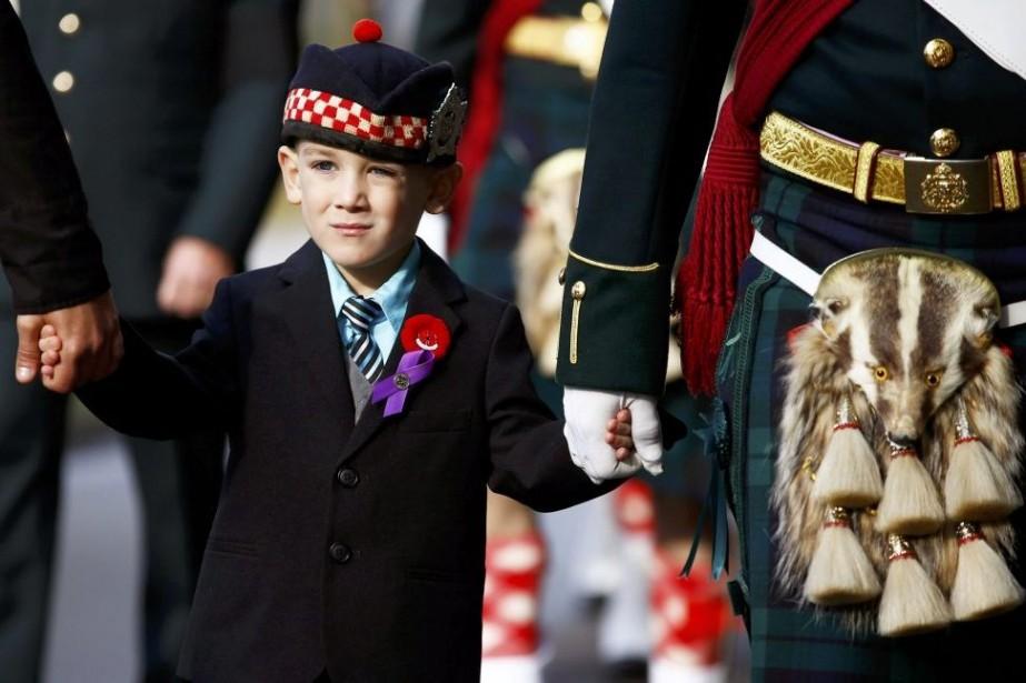 Marcus Cirillo, 5 ans, aux funérailles de son...
