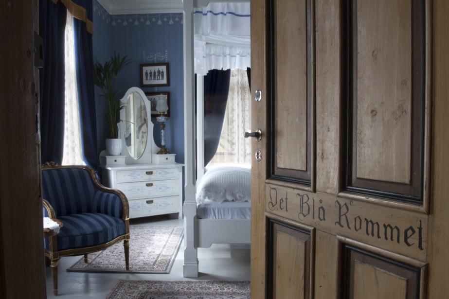 La chambre bleue de l'hôtel UnionØye, à Geigranger. On y entendrait d'étranges lamentations, la nuit. (Photo fournie par l'hôtel)