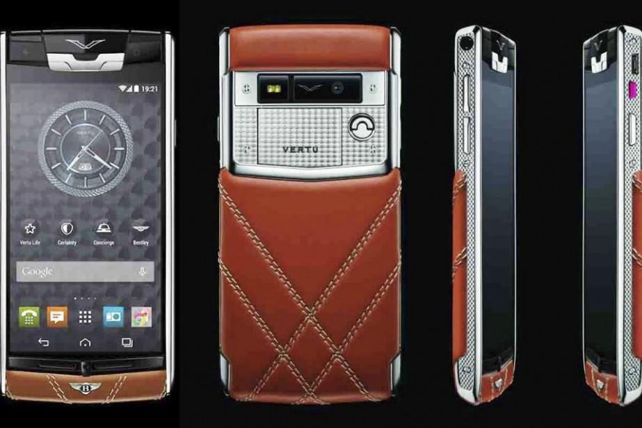 Le téléphone Bentley fait par le fabricant Vertu.... (Photo fournie par le fabricant)