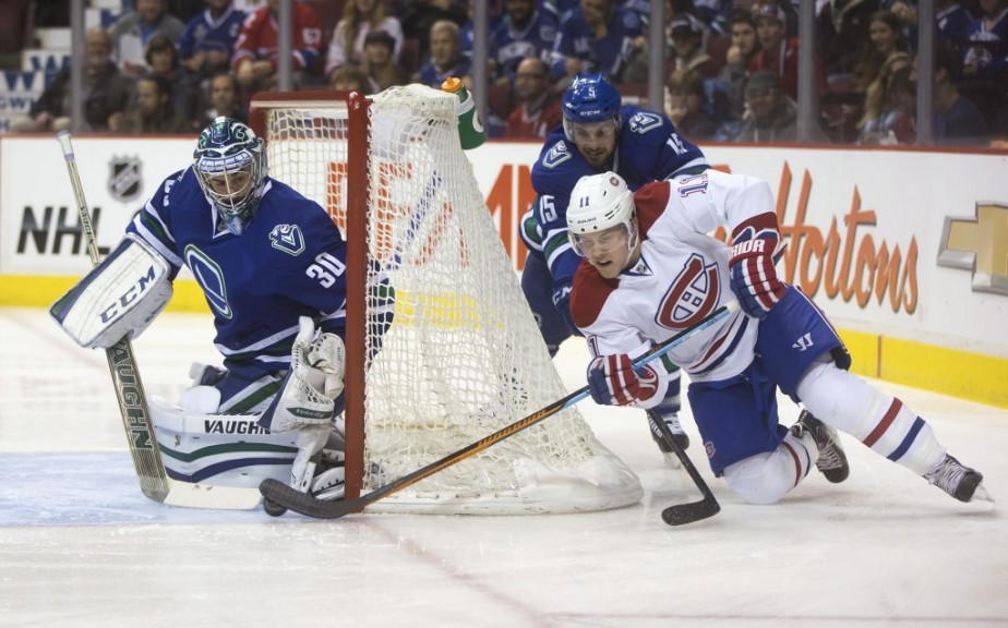 Brendan Gallagher fait une tentative d'approche. (Photo PC)