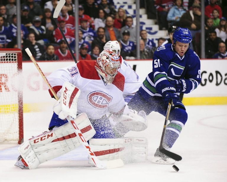 Derek Dorsett et Carey Price (Photo Usa Today Sports)