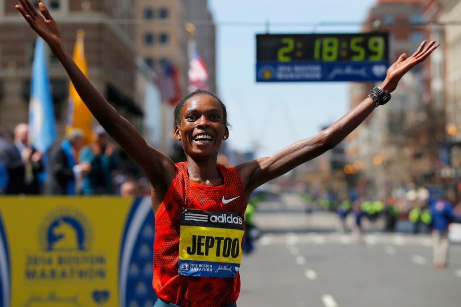 La Kényane Rita Jeptoo,trois fois victorieuse du marathon... (Photo Brian Snyder, archives Reuters)