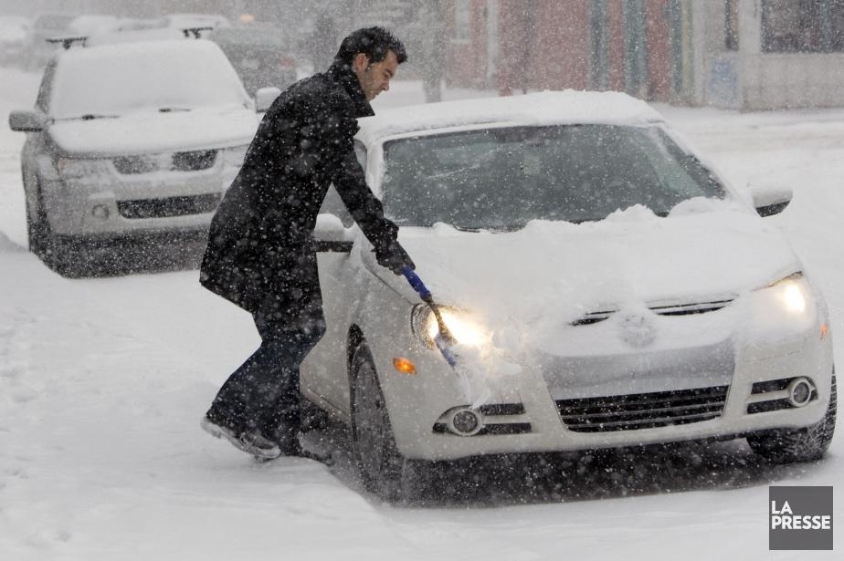 Une forte tempête de neige, la... (Photo Robert Skinner, Archives La Presse)
