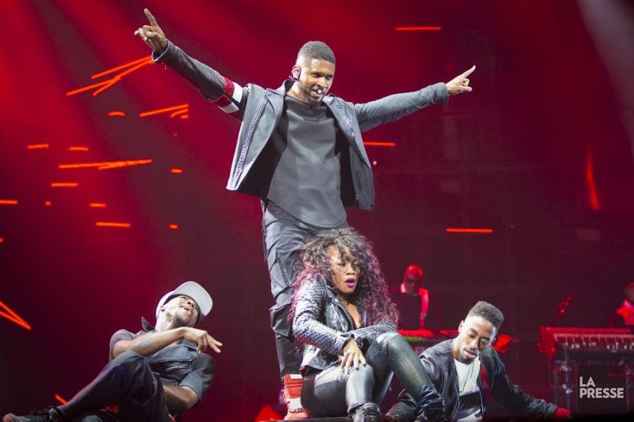 Si Usher le chanteur de R&B charmeur était... (PHOTO ANDRÉ PICHETTE, LA PRESSE)