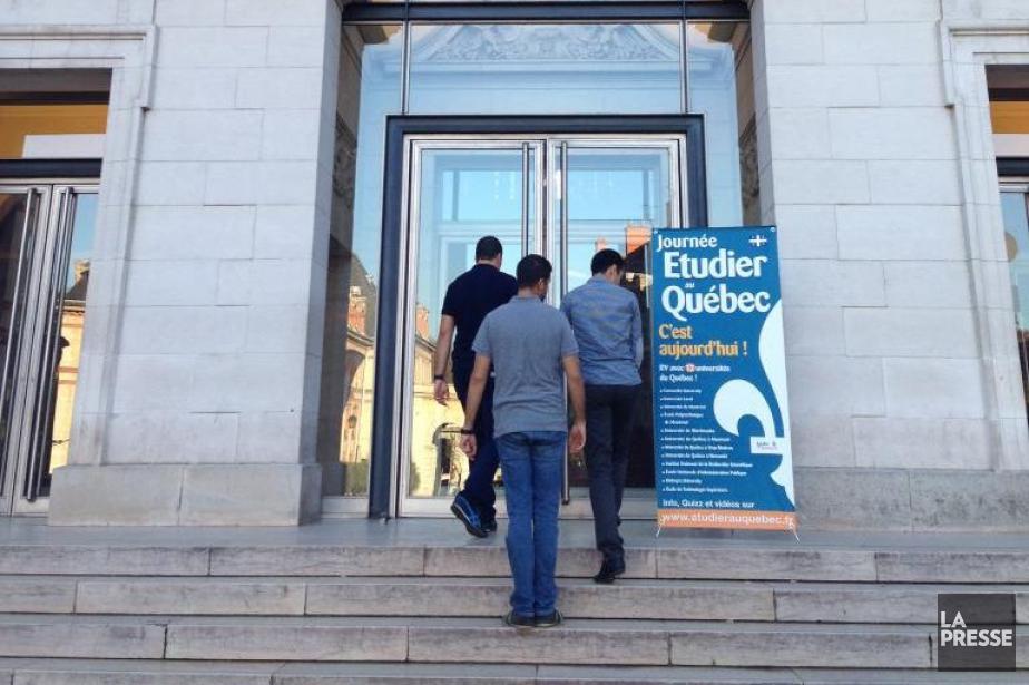 La tournée «Étudier au Québec» a attiré de... (Photo Émilie Côté, La Presse)