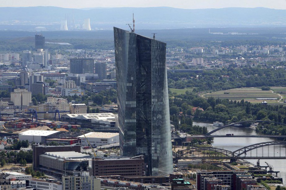 Le nouveau siège social de la Banque centrale... (PHOTO DANIEL ROLAND, ARCHIVES AFP)