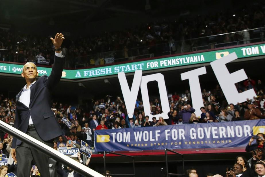 Dans une ultime tentative de mobilisation, le président... (PHOTO LARRY DOWNING, REUTERS)