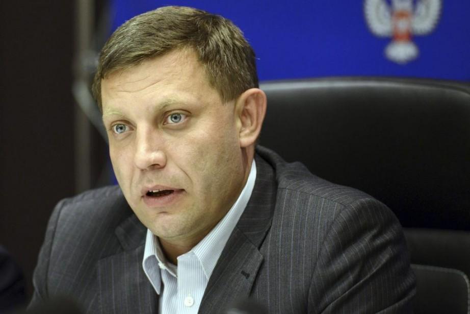 Alexander Zakharchenko, président de la République autoproclamée de... (PHOTO ALEXANDER KHUDOTEPLY, AGENCE FRANCE-PRESSE)