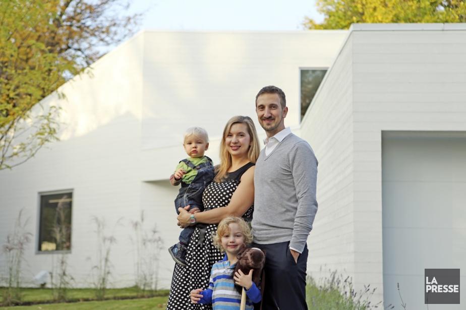 Michelle Masse et Jérôme Fradette rêvaient d'une maison contemporaine. Avec...